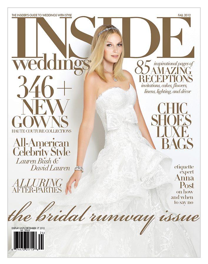cover of inside weddings magazine